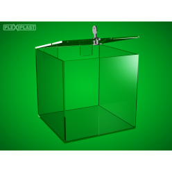 Plastová kasička 150x150x150 mm