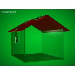 Domečková kasička s červenou střechou