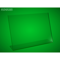 Plexisklový stojánek 'L' A4 na šířku (5 ks)