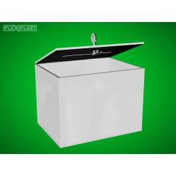 Bílá pokladnička 200x150x150mm, schránkový zámek
