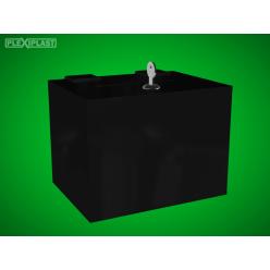 Černá pokladnička 200x150x150mm, schránkový zámek