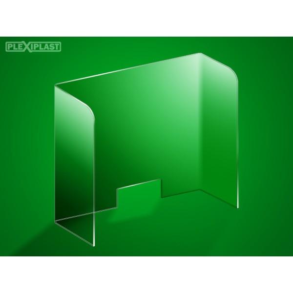 Protective barrier, acrylic 110 x 95 cm (width x height)