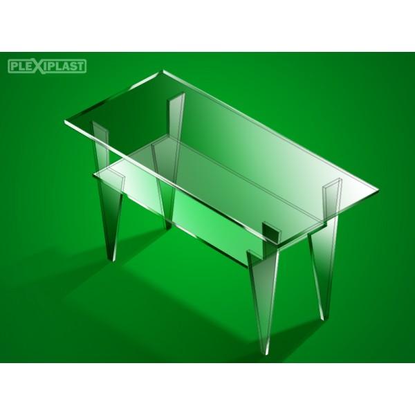 Plexiglass coffee table, larger