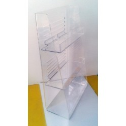 Plexiglass stand for small items