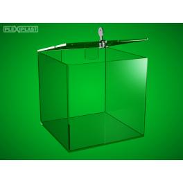 Plastová kasička 150 x 150 x 150 mm