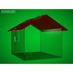 House-like moneybox with red roof