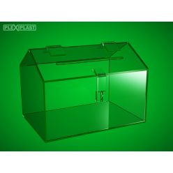 Moneybox without roof overhang, 350x150x170mm
