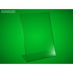 Plexisklový stojánek 'L' A4 na výšku (5 ks)