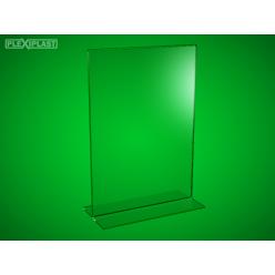 """Plexisklový stojánek """"T"""" A4 na výšku (5 ks)"""