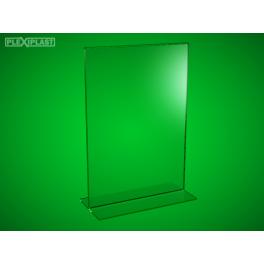 """Plexisklový stojánek """"T"""" A5 na výšku (5 ks)"""