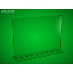Plexisklový stojánek 'T' A4 na šířku (5 ks)