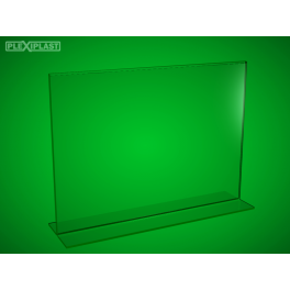 "Plexisklový stojánek ""T"" A4 na šířku (5 ks)"