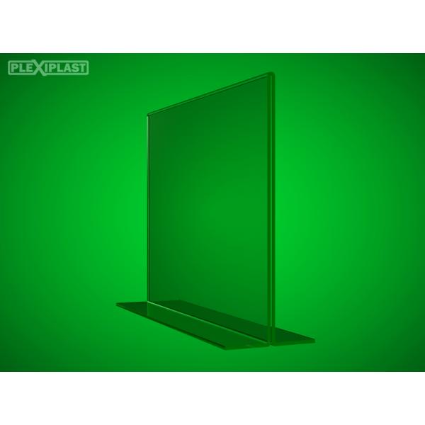 "Plexisklový stojánek ""T"" A5 na šířku (5 ks)"
