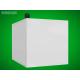 Bílá (opálová) pokladnička 200 x 150 x 150 mm