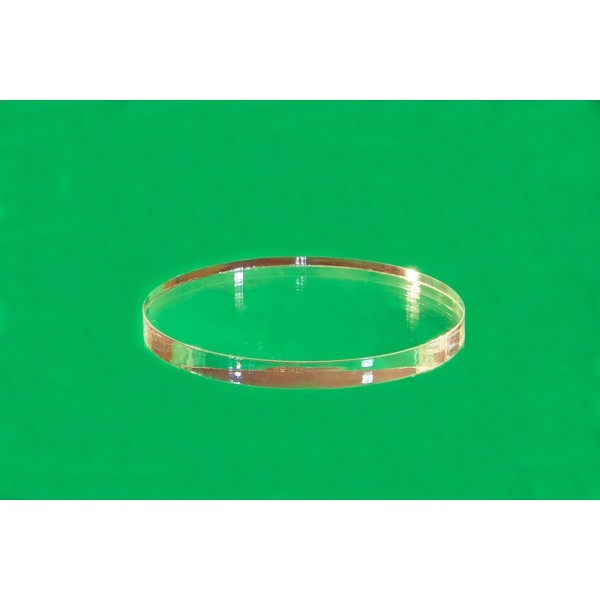 Oval plastic base 20 x 20 mm (Set of 10 pieces)