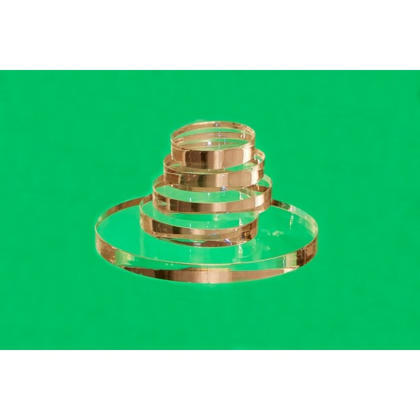 Oval plastic base 40 x 40 mm (Set of 10 pieces)