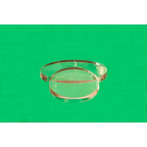 Oválný plastový podstavec 50 x 40 mm (Sada 10 kusů)