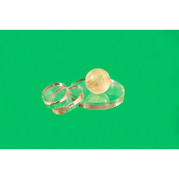 Oval plastic base 30 x 30 mm (Set of 10 pieces)