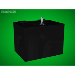 Černá pokladnička 200 x 200 x 200 mm