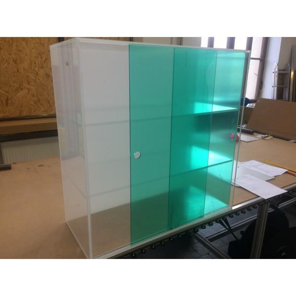 Plexiglass show-case 800 x 200 x 800 mm