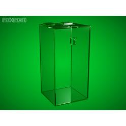 Moneybox - clear, high 150 x 150 x 300 mm